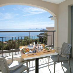 Loggia vue mer Hôtel la Villa Douce - Golfe de St Tropez