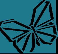 papillon bleu logo Villa Douce