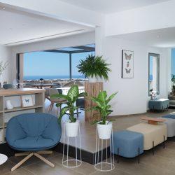 Lobby - sea view - Hôtel La Villa Douce - Golfe de Saint-Tropez