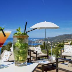Hotel 4 étoiles La Villa Douce Golfe de St Tropez Club papillon Vue Mer RESTAURANT CAFE L'ENVOL TERRASSE (2)