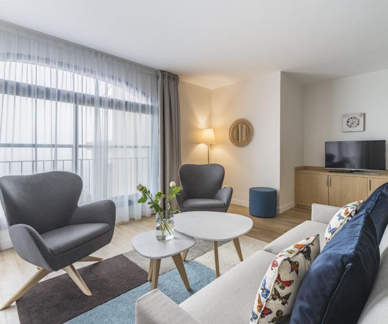 Espace salon - Suite appartement - Hôtel la Villa Douce - Hôtel 4 étoiles- Golfe de Saint Tropez - Rayol-Canadel-Sur-Mer