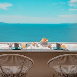 club papillon breakfast Hotel 4 etoiles La Villa Douce - Saint Tropez - Terrasse PDJ 8 -