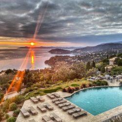 Hotel 4 etoiles La Villa Douce - Saint Tropez - vue mer sunset